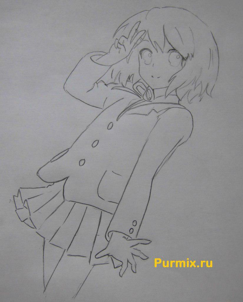 Рисуем Юи Хирасаву в полны рост - фото 6