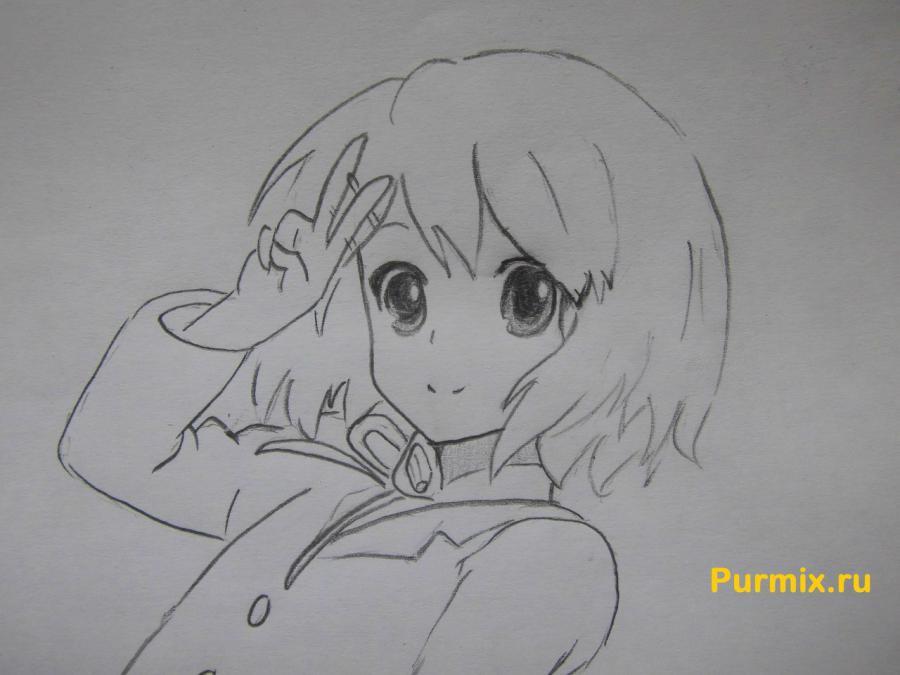 Рисуем Юи Хирасаву в полны рост - фото 7
