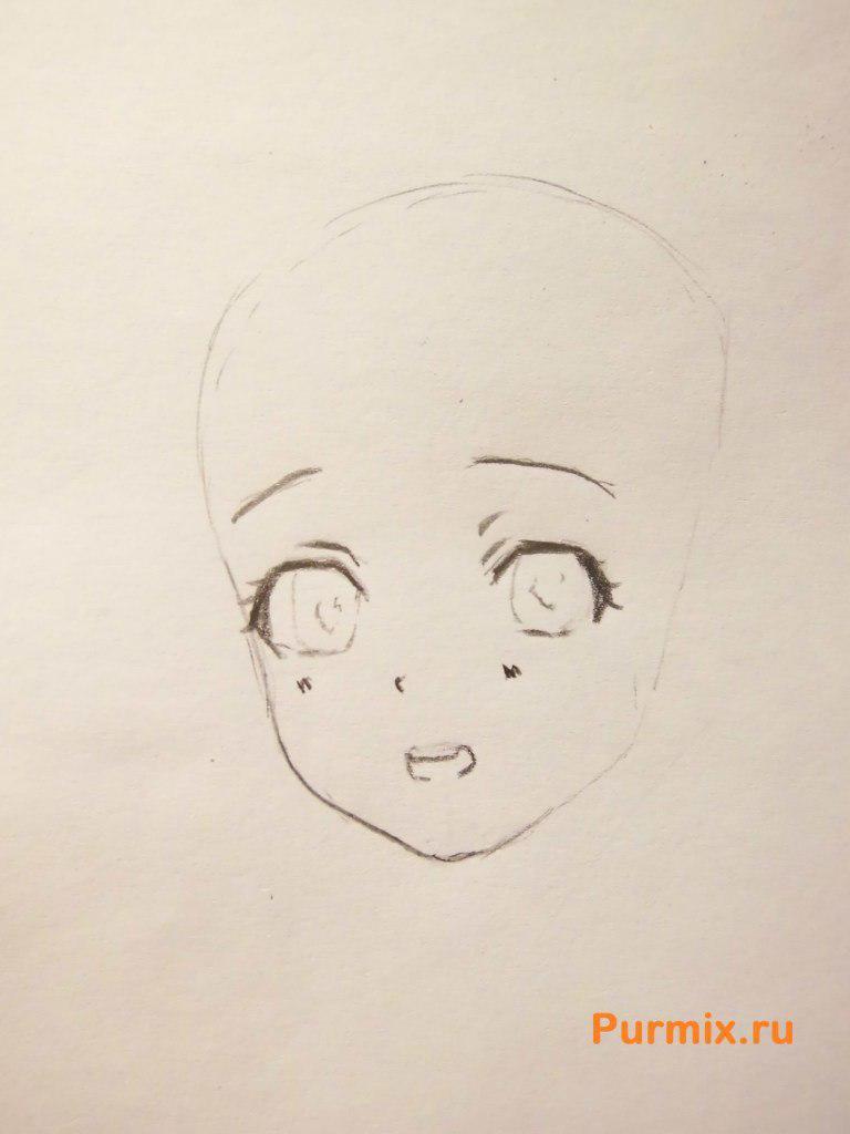 Рисуем Юи Комори из аниме Дьявольские возлюбленные