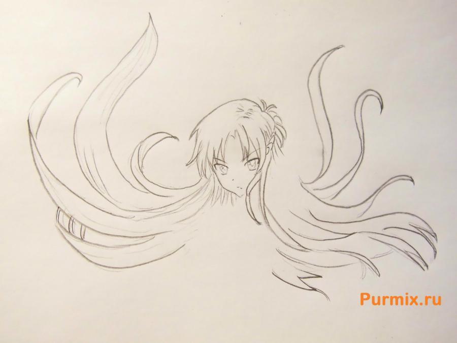 Рисуем Юки Асуну в полный рост - фото 3
