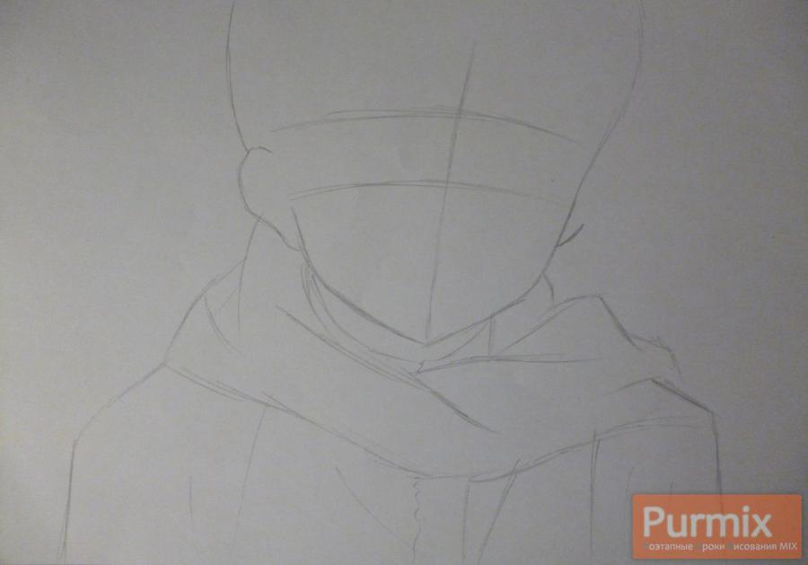 Рисуем Юкитэру Амано карандашами - шаг 1