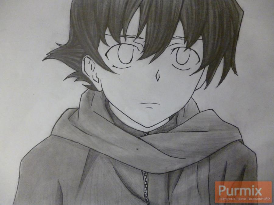 Рисуем Юкитэру Амано карандашами - шаг 10
