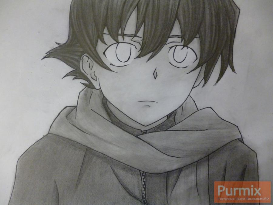 Рисуем Юкитэру Амано карандашами - шаг 11