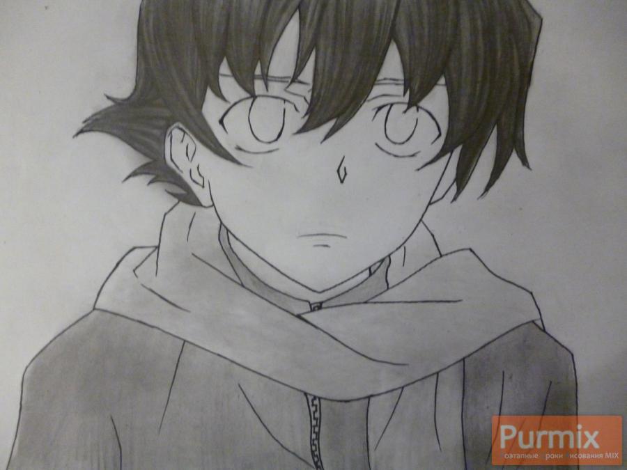 Рисуем Юкитэру Амано карандашами - шаг 9