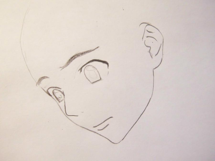 Рисуем Юкитэру Амано из аниме Дневник будущего - шаг 1