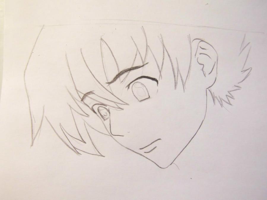 Рисуем Юкитэру Амано из аниме Дневник будущего - шаг 2