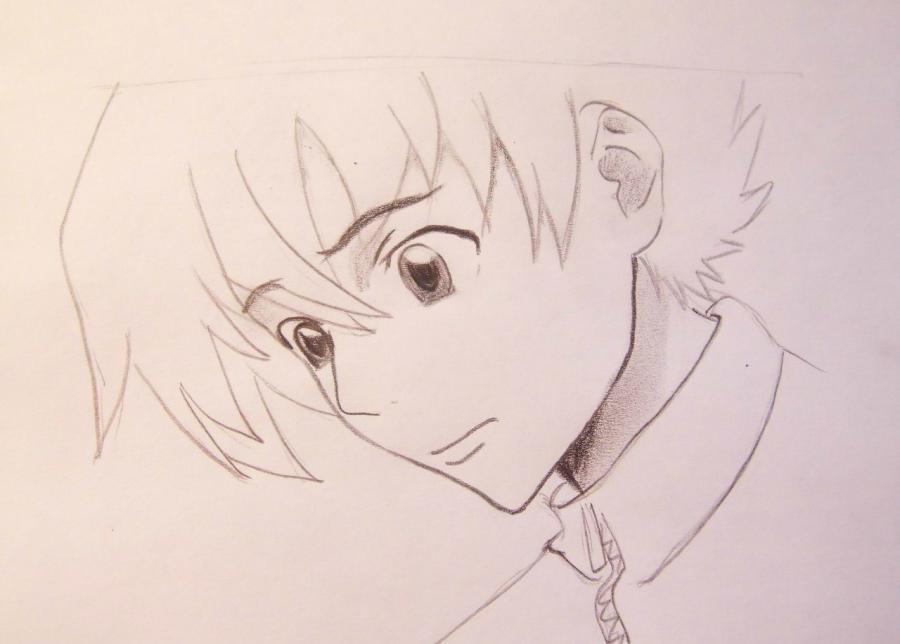 Рисуем Юкитэру Амано из аниме Дневник будущего - шаг 4