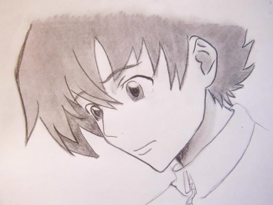 Рисуем Юкитэру Амано из аниме Дневник будущего - шаг 5