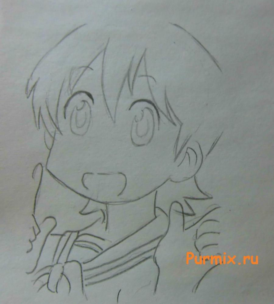 Рисуем Юко Айой из аниме Мелочи жизни