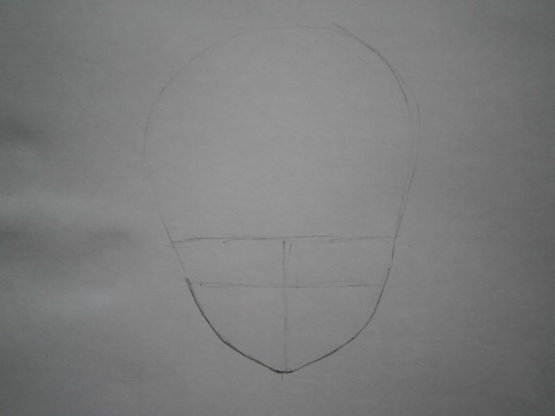 Рисуем фэнтези девушку в наушниках - шаг 1