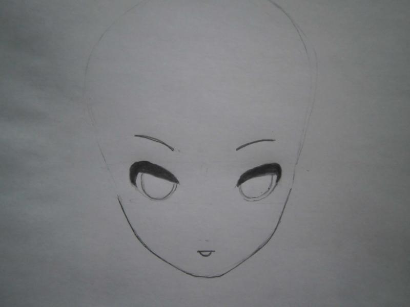 Рисуем фэнтези девушку в наушниках - шаг 2