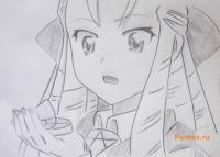 Как научиться рисовать Монморанси из аниме Подручный бездарной Луизы