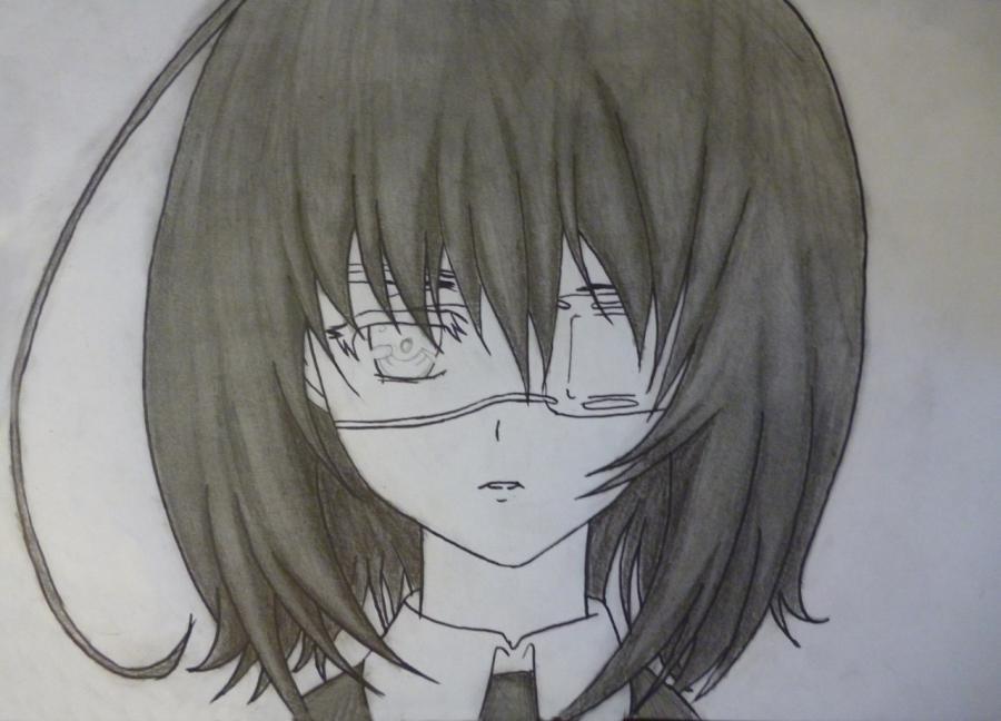 Как простым нарисовать Мэй Мисаки карандашами - фото 9