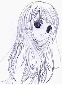 Как рисовать аниме девушку