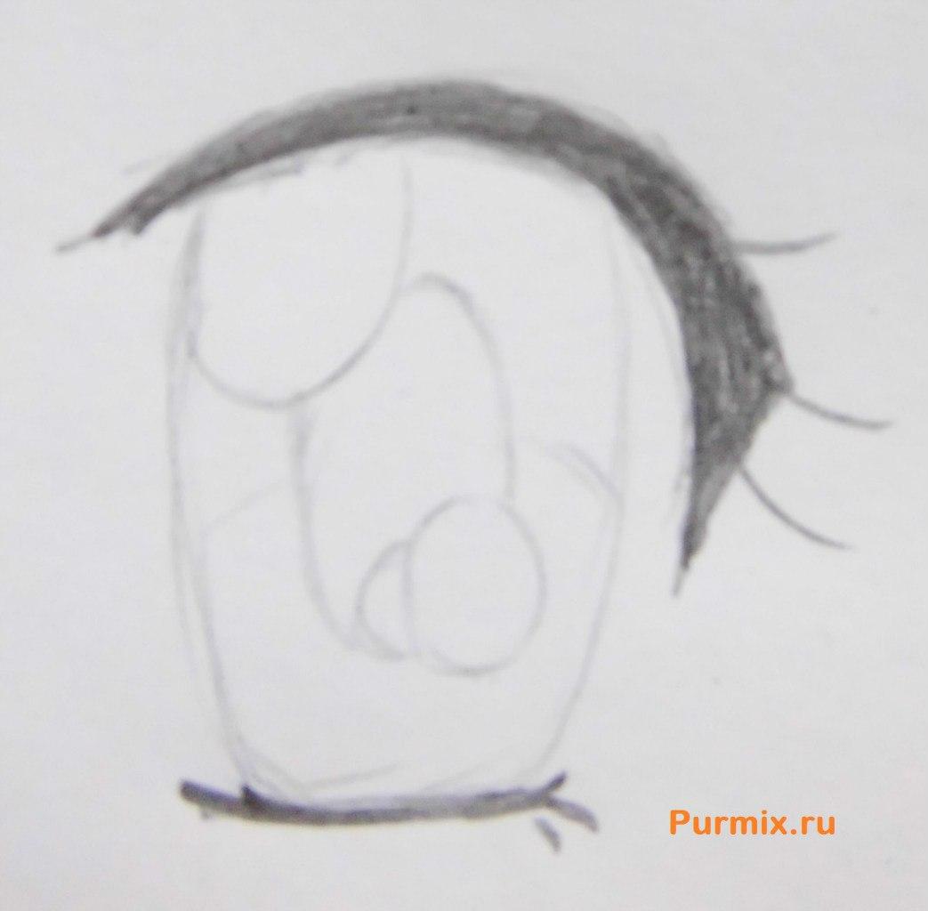 Рисуем аниме лицо девушки - шаг 9