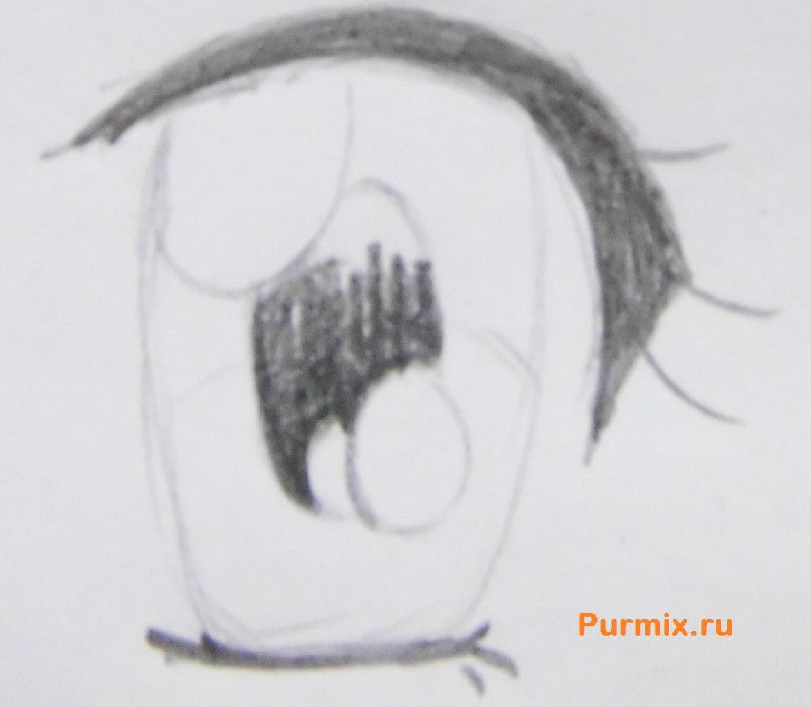 Рисуем аниме лицо девушки - шаг 11