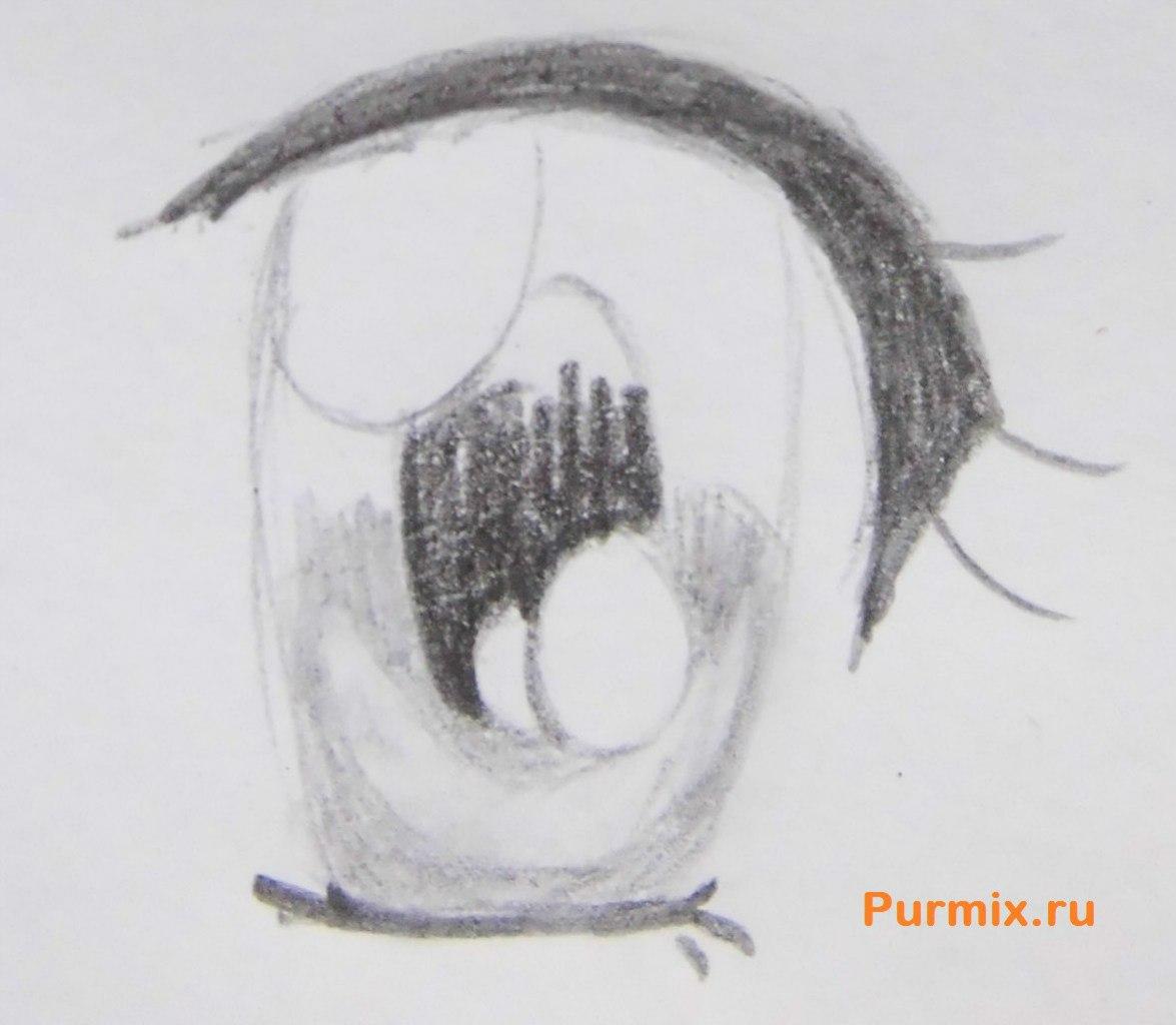 Рисуем аниме лицо девушки - шаг 12