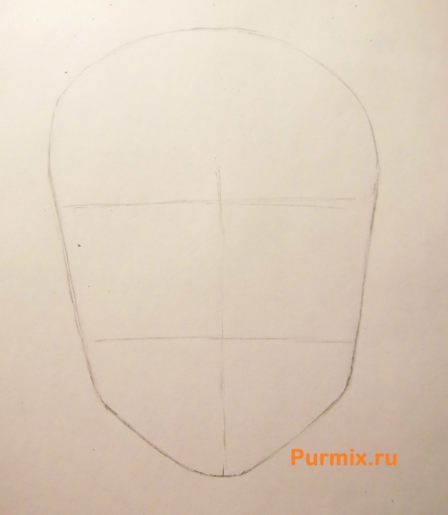 Рисуем аниме лицо девушки - шаг 3