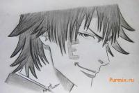 Как рисовать Тацуми Ога из аниме Beelzebub карандашом
