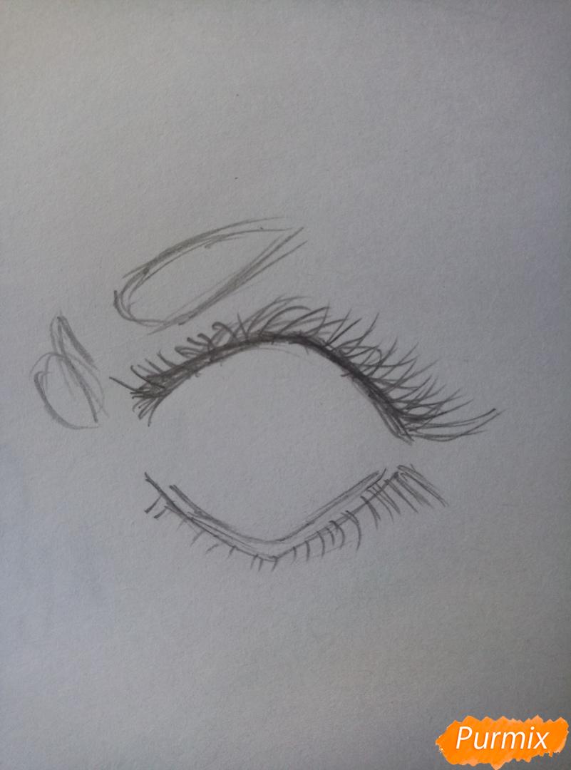 Простой аниме глаз - шаг 2