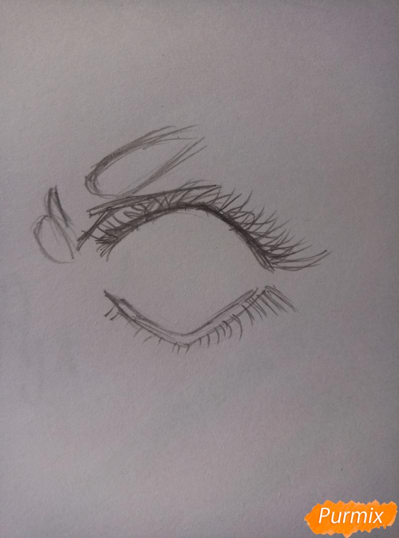 Простой аниме глаз - шаг 3