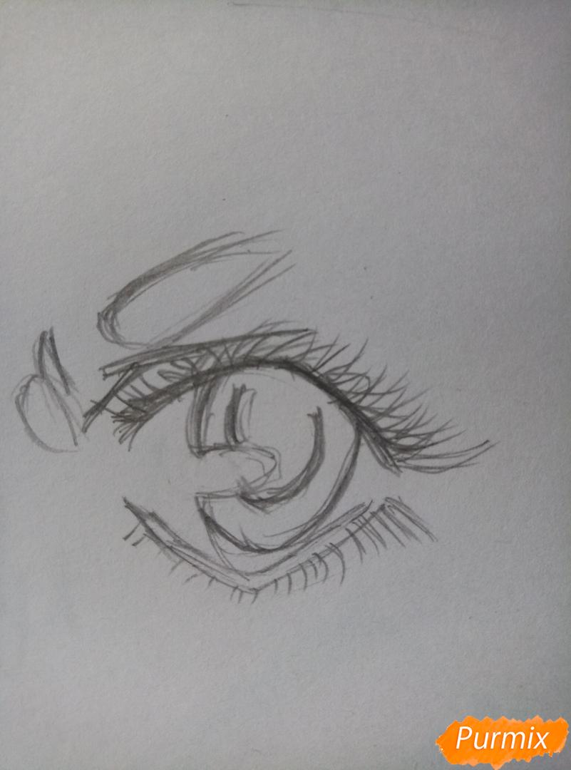 Простой аниме глаз - шаг 4