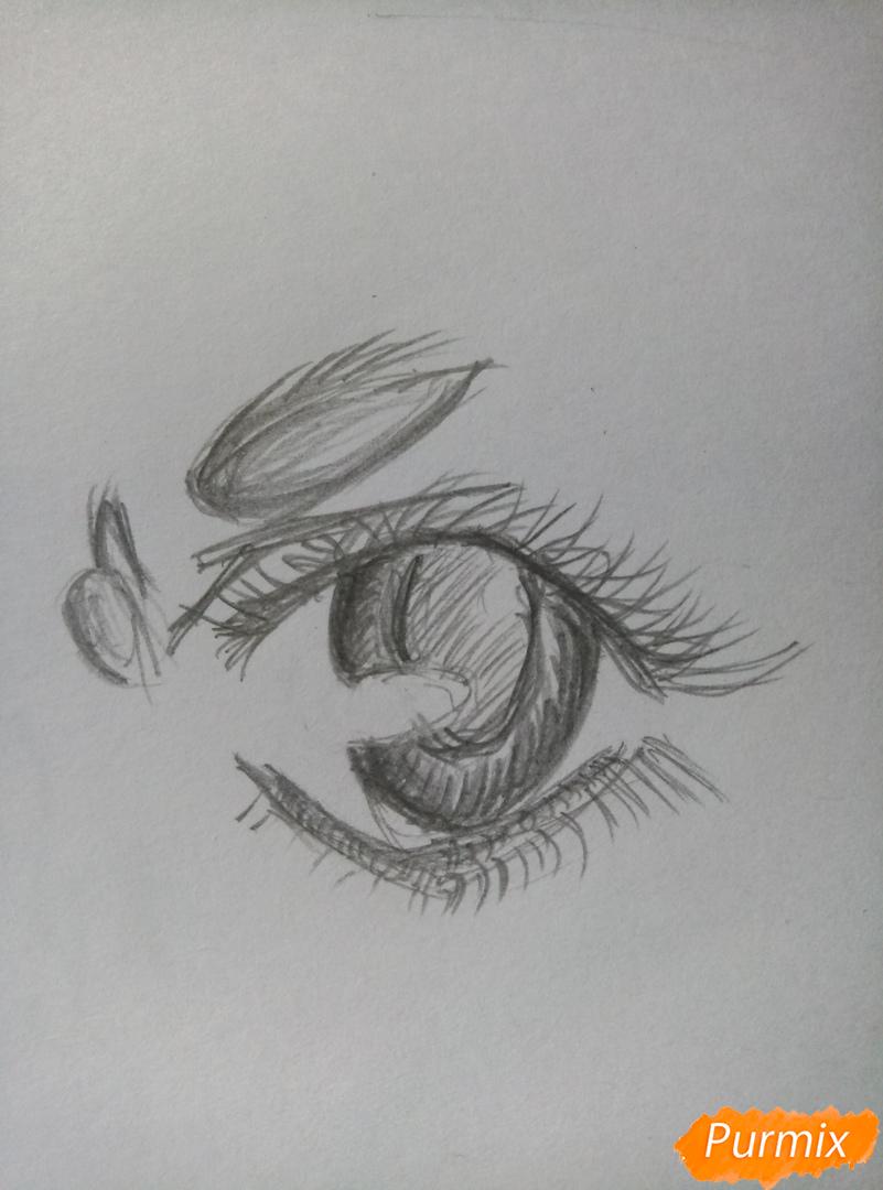Простой аниме глаз - шаг 5