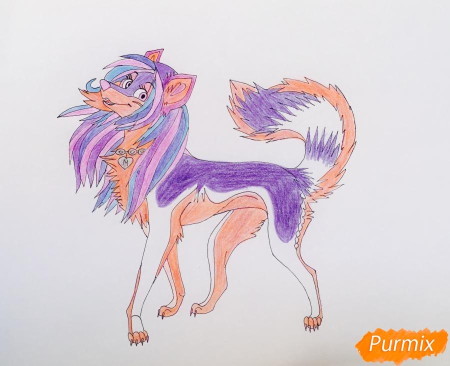 Разноцветная аниме волчица - шаг 12