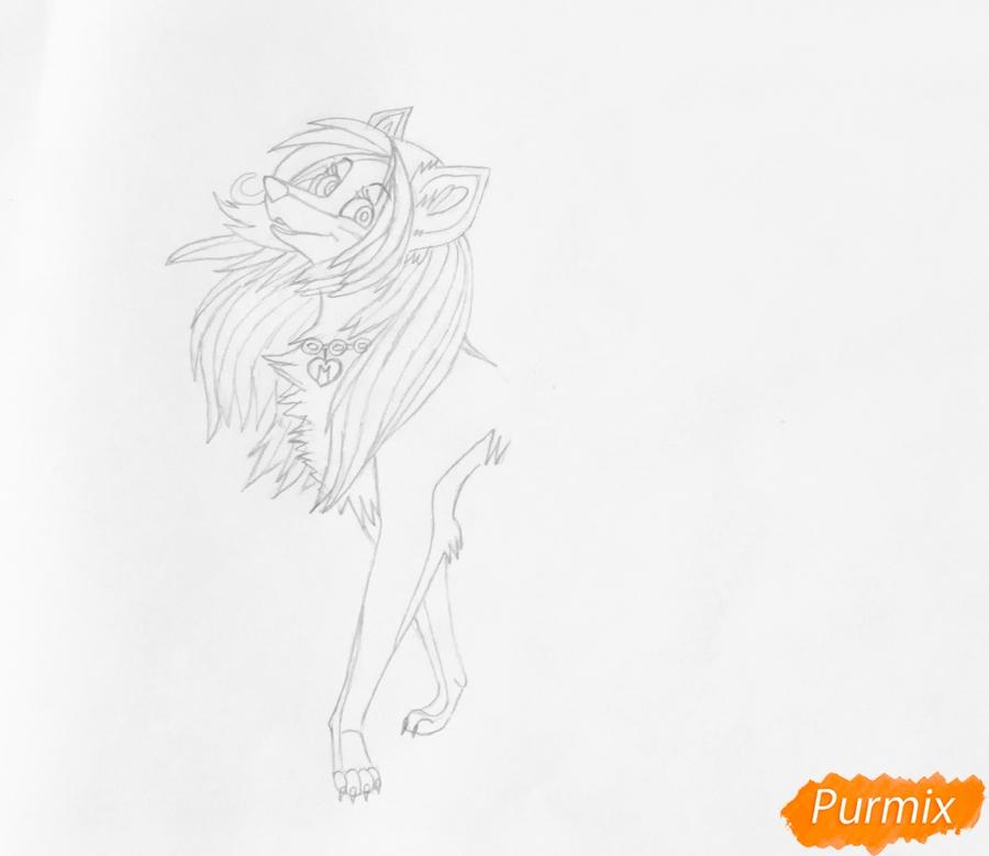 Разноцветная аниме волчица - шаг 5