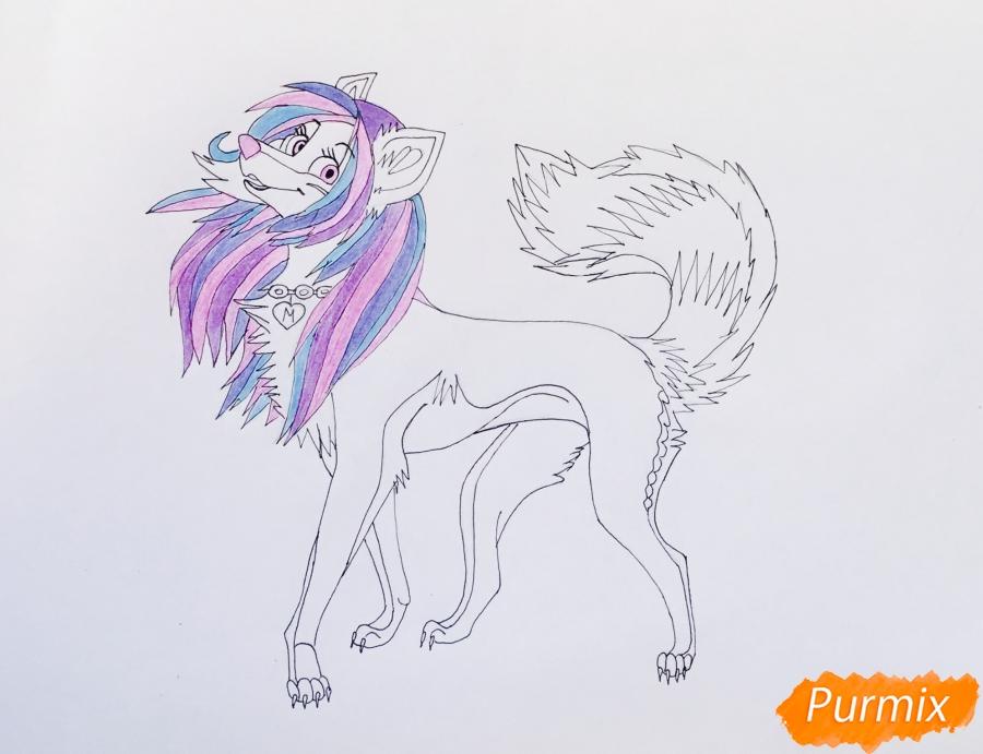 Разноцветная аниме волчица - шаг 9
