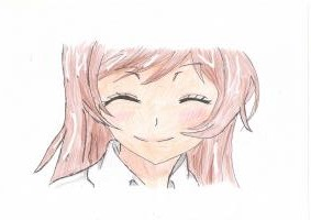 Учимся рисовать голову Нанами Момодзоно из аниме Очень приятно, Бог