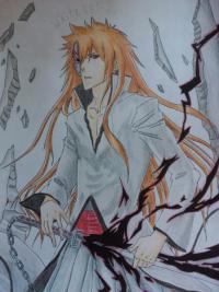 Учимся рисовать Ичиго Куросаки из аниме Блич  шаг за шагом