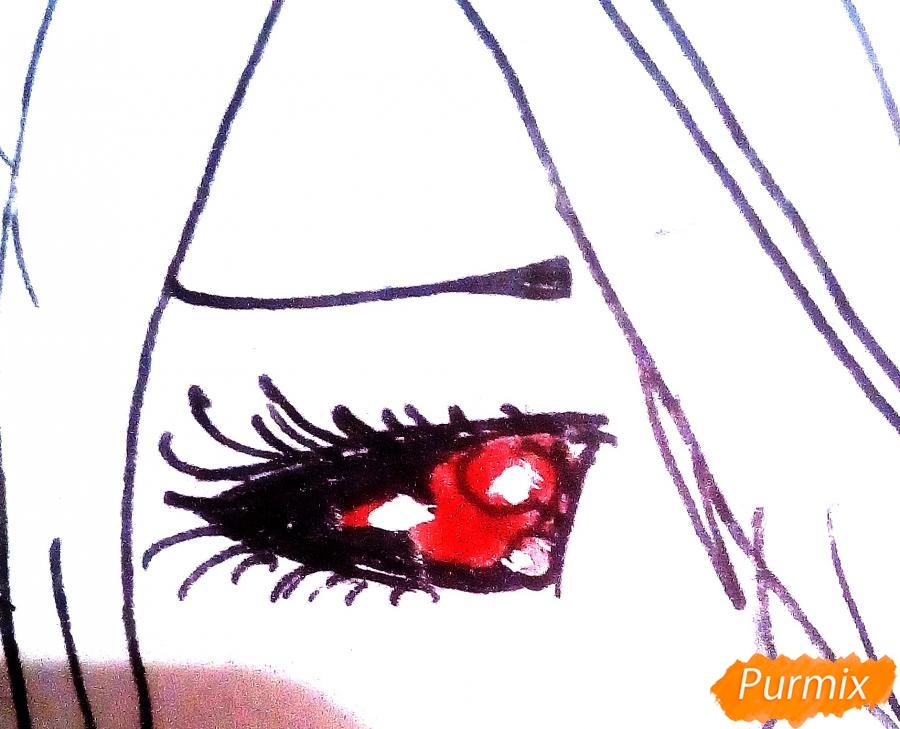 как нарисовать киришиму тоуку карандашами поэтапно