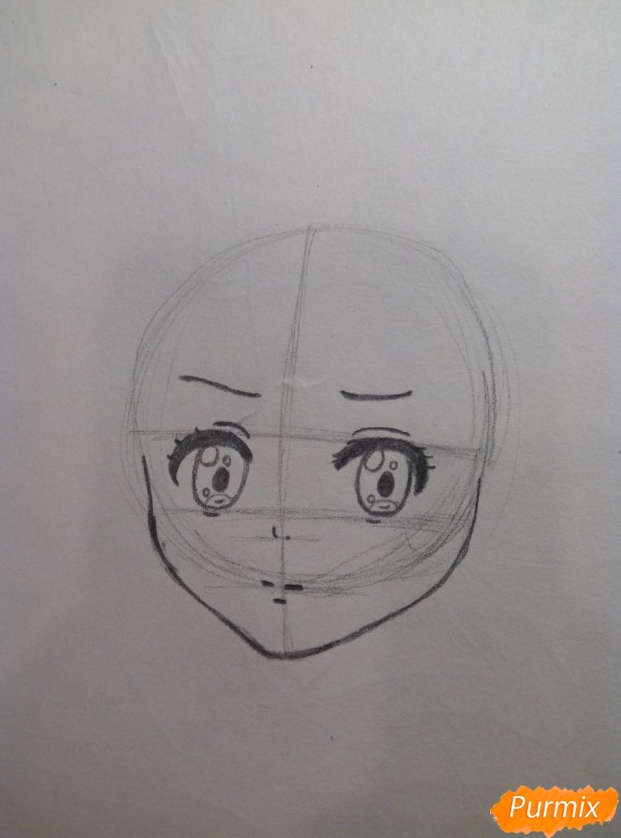 Рисуем Курияму Мирай из аниме за гранью - фото 3