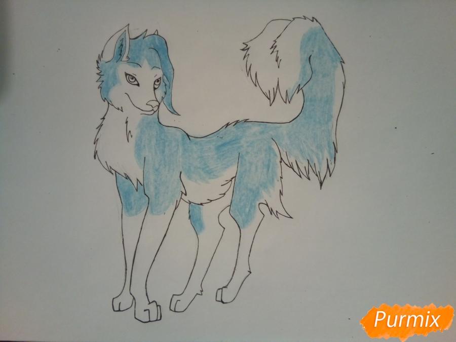 Рисуем ледяную волчицу в стиле аниме - шаг 8