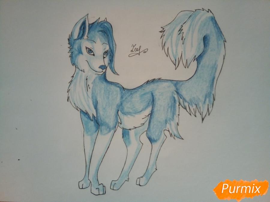 Рисуем ледяную волчицу в стиле аниме - шаг 9
