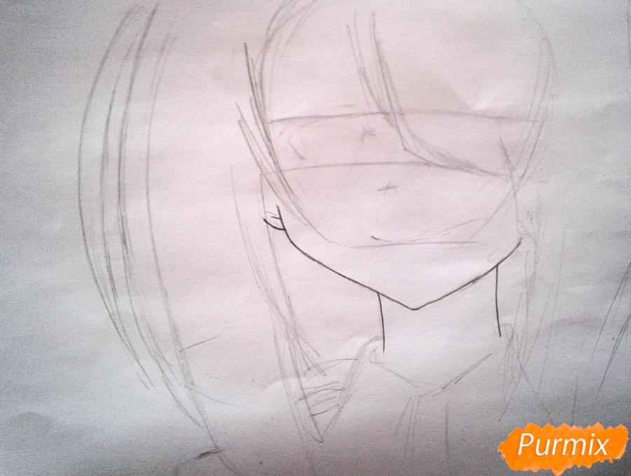 Рисуем портрет Куруми Токисаки - шаг 1