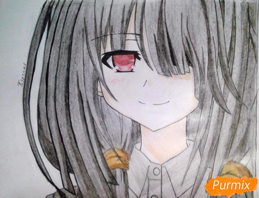 Рисуем портрет Куруми Токисаки - шаг 9