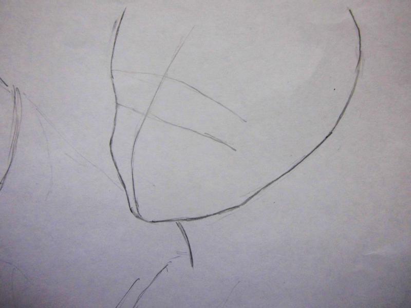 Рисуем красивую аниме девушку с длинными волосами - шаг 1