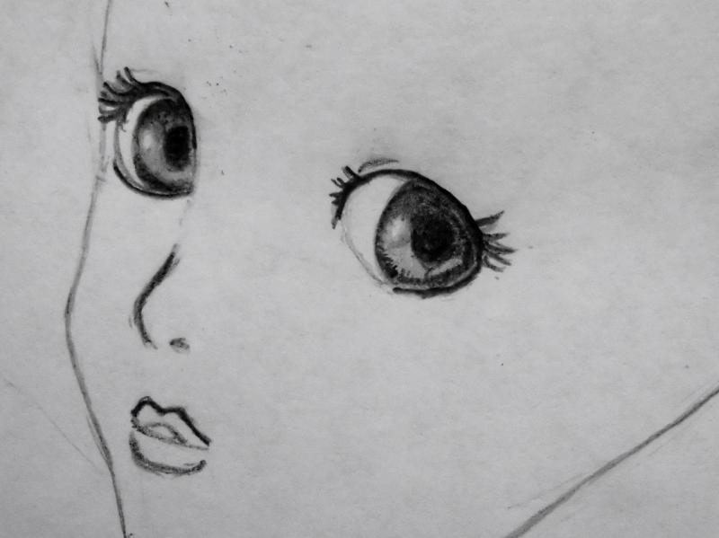 Рисуем красивую аниме девушку с длинными волосами - фото 2