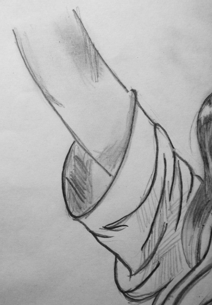 Рисуем красивую аниме девушку с длинными волосами - шаг 4