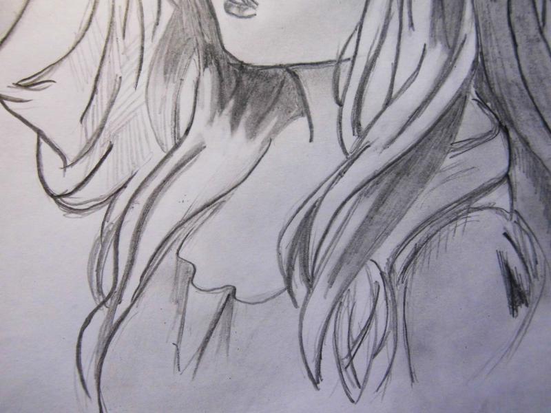 Рисуем красивую аниме девушку с длинными волосами - фото 5