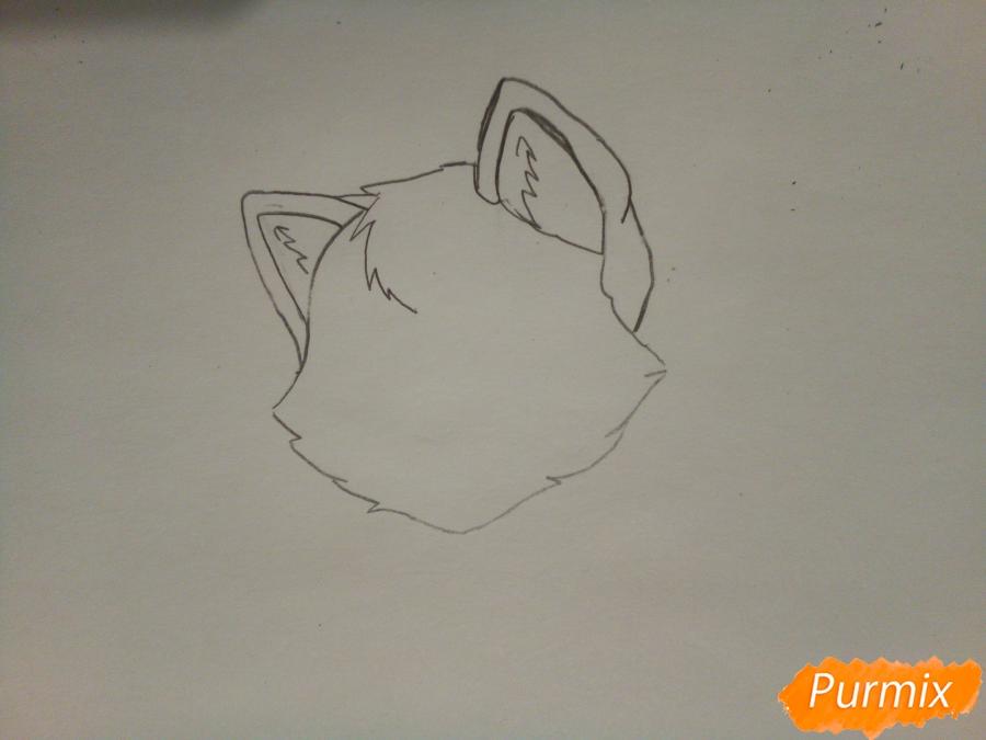 Синяя аниме кошечка - шаг 1