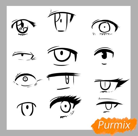 Азы в рисовании глаза в стиле аниме - шаг 5
