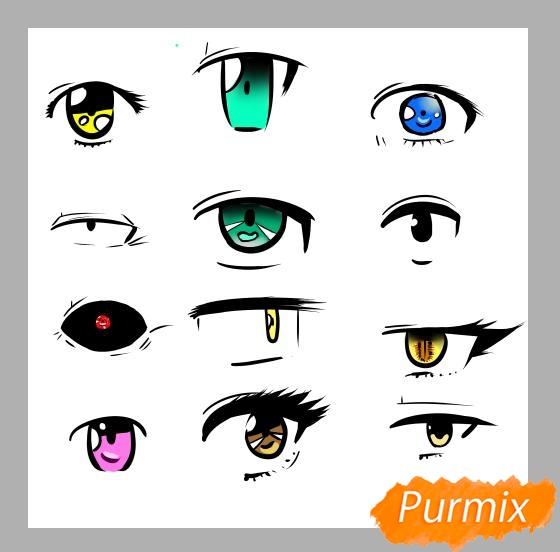 Азы в рисовании глаза в стиле аниме - шаг 7