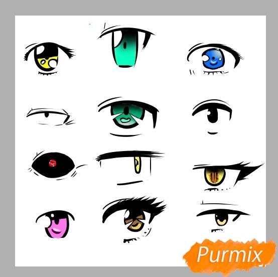 Азы в рисовании глаза в стиле аниме - шаг 8