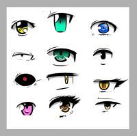 Учимся рисовать глаза в стиле аниме