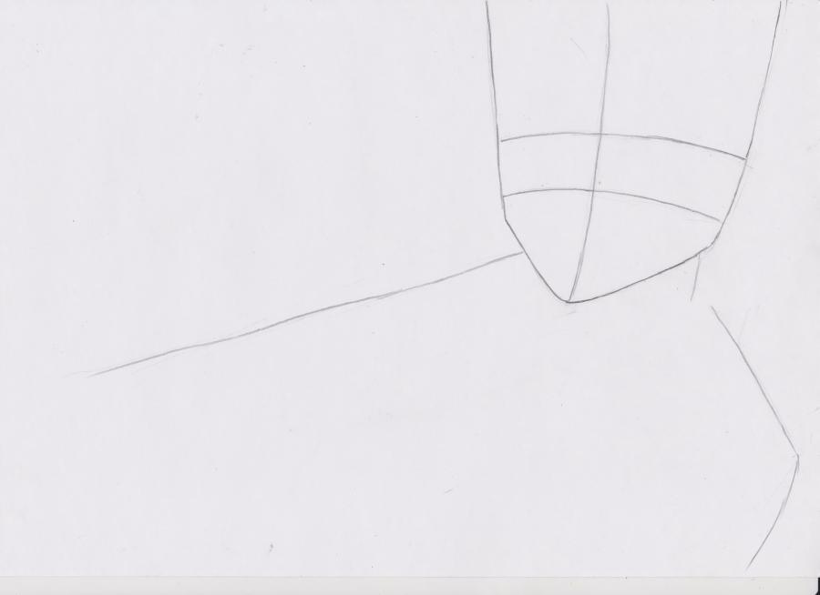 Как просто нарисовать красивую аниме девушку простым - шаг 1