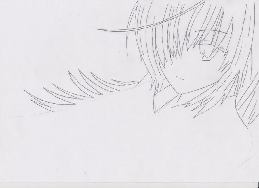 Как просто нарисовать красивую аниме девушку простым - шаг 2
