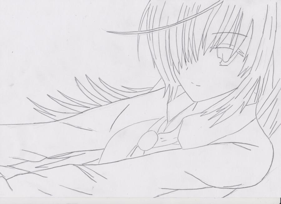 Как просто нарисовать красивую аниме девушку простым - шаг 3